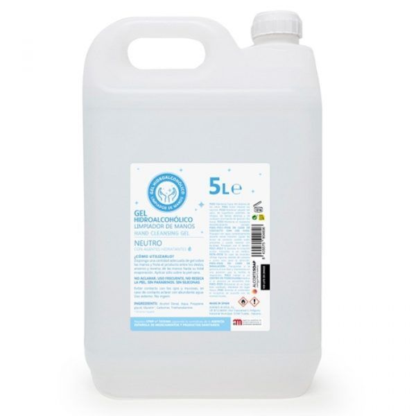 garrafa 5 litros gel hidroalcoholico